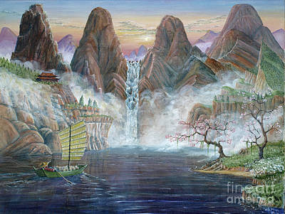 Poster featuring the painting China Dawn by Anthony Lyon