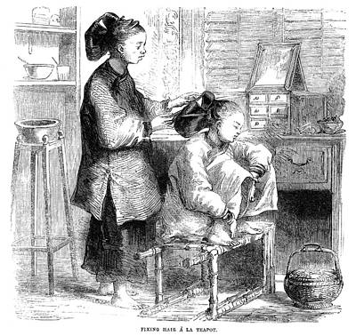 China Hairdresser, 1859 Poster by Granger