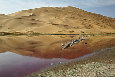 China, Inner Mongolia, Badain Jaran Poster by Jaynes Gallery
