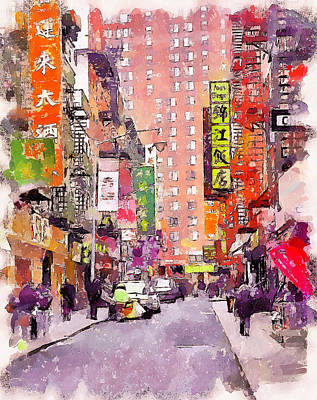 China Town New York Poster