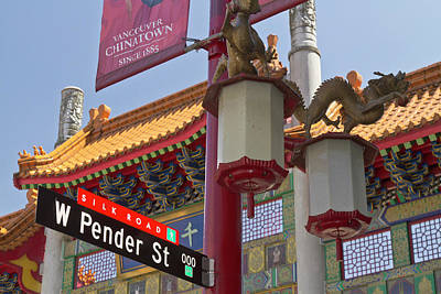 Chinatown Entry Gate On West Pender Poster by William Sutton