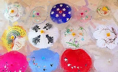 Chinatown Umbrellas Poster