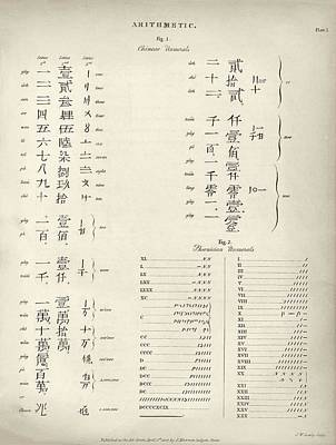 Chinese And Phoenician Numerals Poster