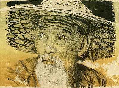 Chinese Cormorant Fisherman Poster