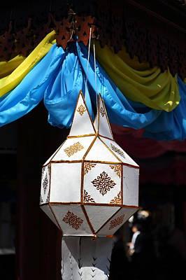 Chinese Lanterns - Wat Phrathat Doi Suthep - Chiang Mai Thailand - 01131 Poster