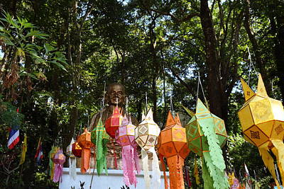 Chinese Lanterns - Wat Phrathat Doi Suthep - Chiang Mai Thailand - 01134 Poster by DC Photographer