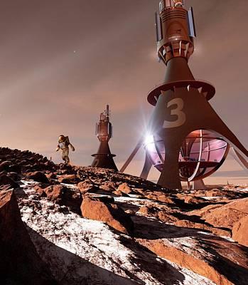 Chinese Mars Mission Poster by Detlev Van Ravenswaay