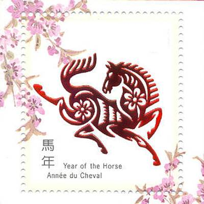 Chinese Papercuts Happy New Year Of The Horse Poster