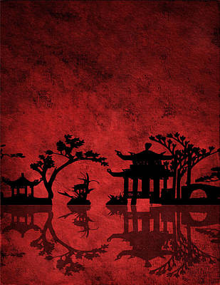 Poster featuring the digital art Chinese Red by Bruce Rolff