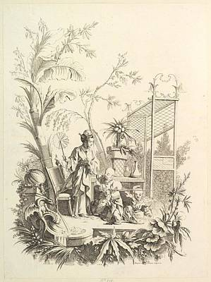 Chinoiserie With Figures In A Landscape Poster by Gabriel Huquier