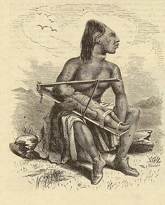 Chinook Woman And Child Poster