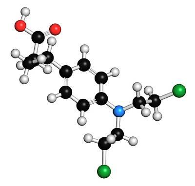 Chlorambucil Leukemia Drug Molecule Poster by Molekuul