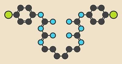 Chlorhexidine Antiseptic Molecule Poster by Molekuul