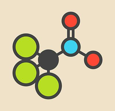 Chloropicrin Soil Fumigant Molecule Poster by Molekuul