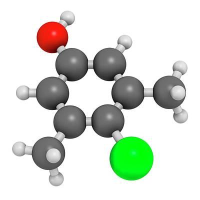 Chloroxylenol Antiseptic Molecule Poster