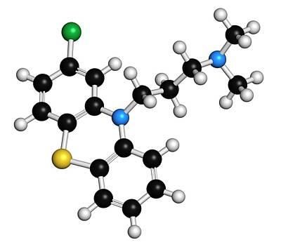 Chlorpromazine Antipsychotic Drug Poster by Molekuul