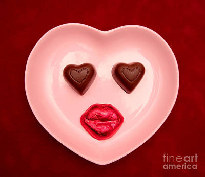 Chocolate Heart Face Poster
