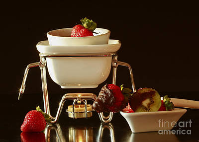 Chocolate Heaven - Fondue Bliss  Poster by Inspired Nature Photography Fine Art Photography