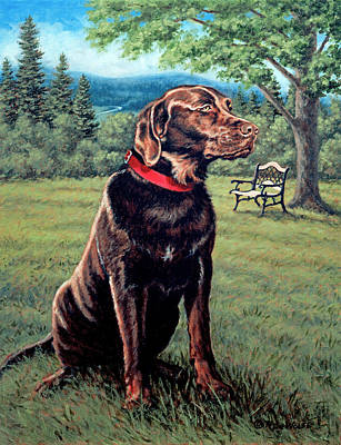 Chocolate Lab Poster by Richard De Wolfe