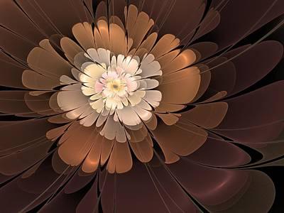 Poster featuring the digital art Chocolate Lilly by Svetlana Nikolova