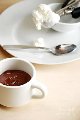 Chocolate Pudding And Cream Poster