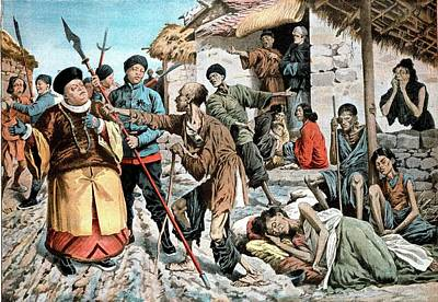 Cholera Amongst Famine Victims In China Poster