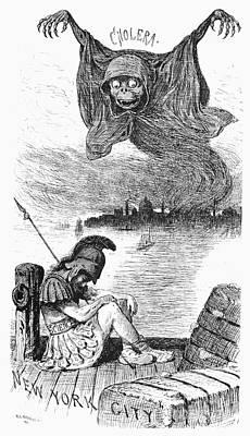 Cholera Cartoon, 1883 Poster