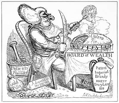 Cholera Doctor, Satirical Artwork Poster