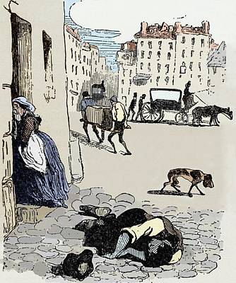 Cholera In Paris Poster by Sheila Terry