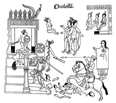 Cholula Massacre, 1519 Poster by Granger