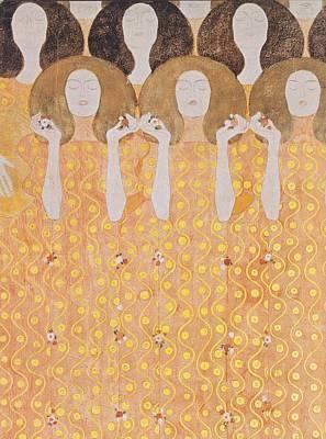 Chor Der Paradiesengel Poster by Gustav Klimt