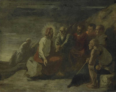 Christ And His Disciples, Honoré Daumier Poster