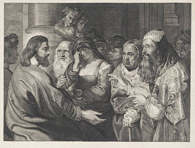 Christ And The Adulteress, Elisabeth Marie Simons Poster