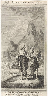 Christ Appears At The Sea Of Galilee, Jan Luyken Poster by Jan Luyken And Anonymous