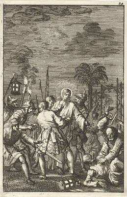 Christ Arrested In The Garden Of Gethsemane Poster by Jan Luyken And Aart Dircksz Oossaan