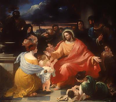 Christ Blessing The Little Children Poster