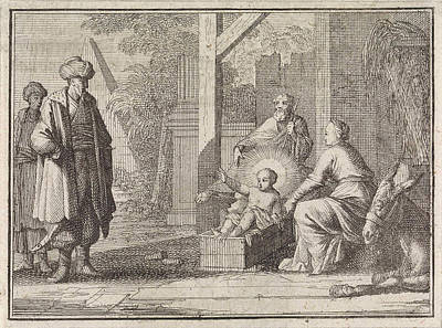 Christ Child Speaks From The Manger To An Easterner Poster