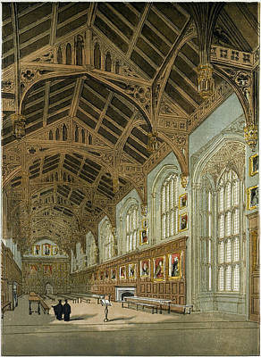 Christ Church Hall Oxford Oxford University Uk Poster by English School
