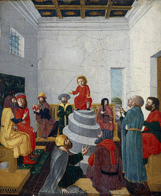 Christ Disputing With The Doctors Oil On Panel Poster