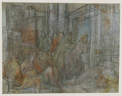 Christ Driving The Money Changers From The Temple Jacopo Poster by Litz Collection