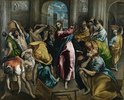 Christ Driving The Traders From The Temple Poster by Celestial Images