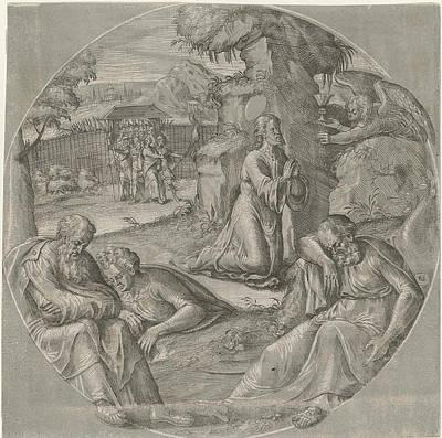 Christ In The Garden Of Gethsemane, Crispijn Van Den Broeck Poster by Crispijn Van Den Broeck