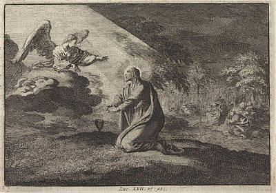 Christ In The Garden Of Gethsemane, Jan Luyken Poster by Jan Luyken And Pieter Mortier