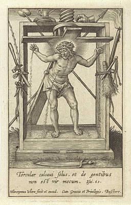Christ In The Winepress, Hieronymus Wierix Poster by Hieronymus Wierix