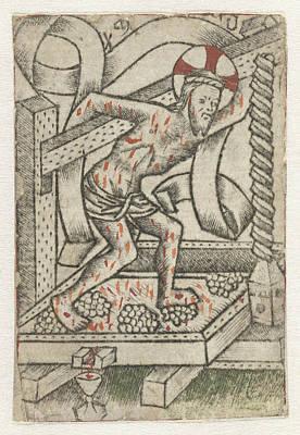 Christ In The Winepress, Meester Van Het Martyrium Der Poster by Artokoloro