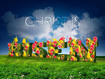Christ Is Risen Poster by Michele Engling