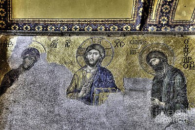 Christ Mosaic Poster by Emily Kay