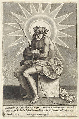 Christ On The Cold Stone, Hieronymus Wierix Poster