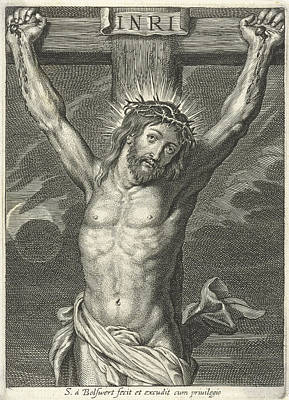Christ On The Cross And Eclipse Poster by Schelte Adamsz. Bolswert And Peter Paul Rubens