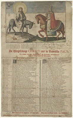 Christ On The Donkey, The Pope On A Horse Poster